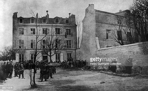 Taking place in a back garden the execution by firing squad of Generals Thomas and Lecomte which started the Paris Commune Lecomte was responsible...