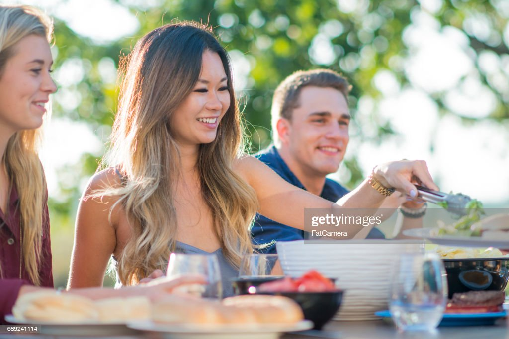 Taking Salad : Stock Photo