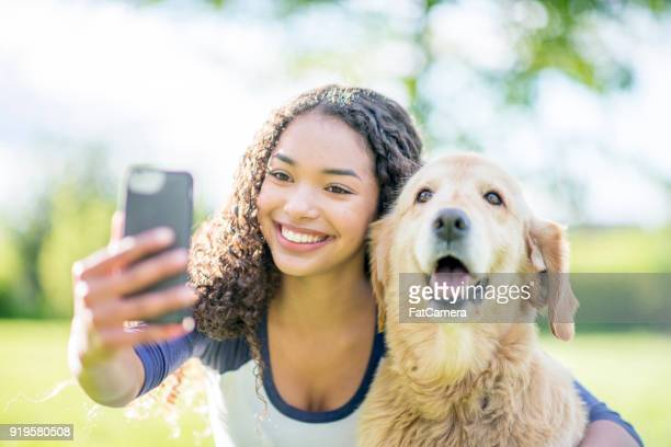 Taking Selfie With Dog