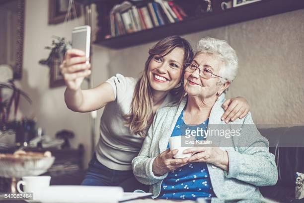 Prenant mentionné les selfies