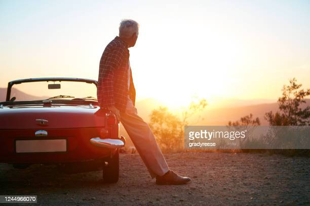 taking some time away to think - vintage car stock pictures, royalty-free photos & images