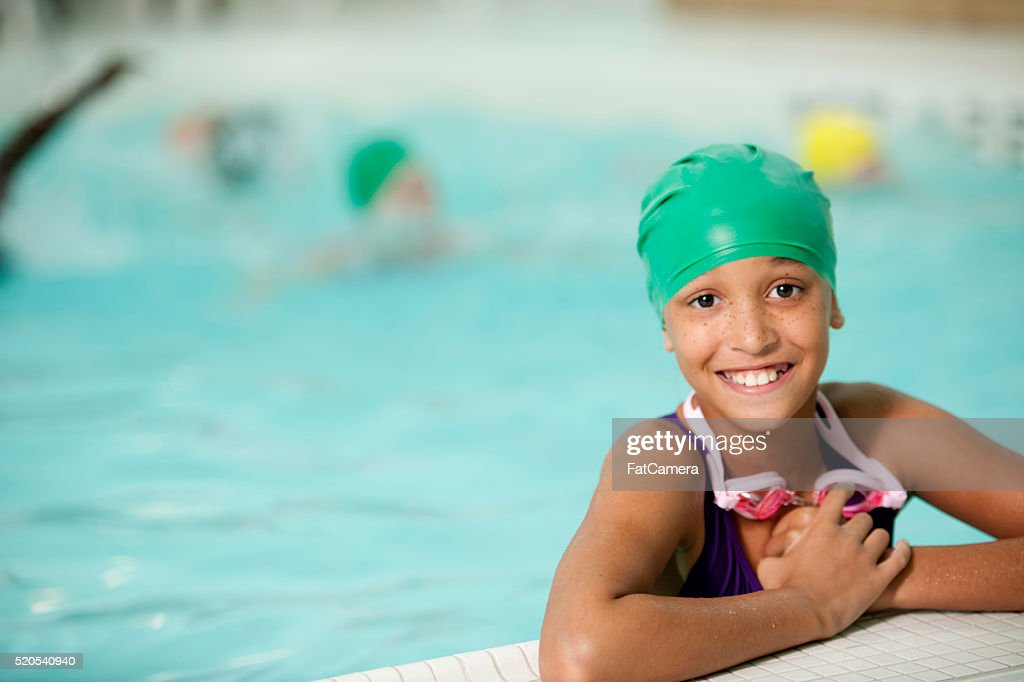 Taking Swimming Lessons : Stock Photo