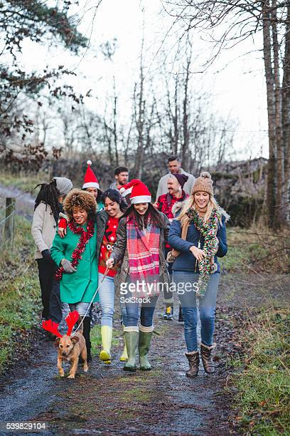 Taking the Dog for a Walk on Christmas Day