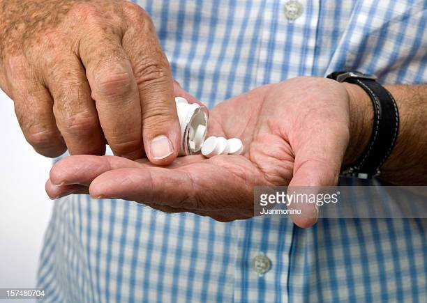 taking the medicine - aspirin stock pictures, royalty-free photos & images