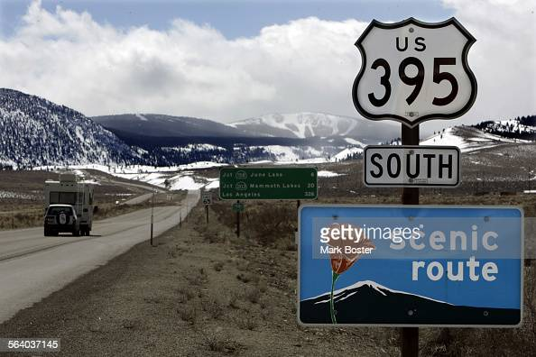 Taking the scenic route through California along Hwy 395