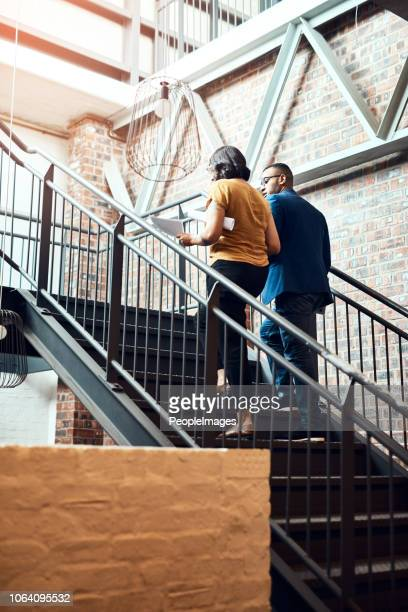 taking the stairway to success - steps and staircases stock pictures, royalty-free photos & images