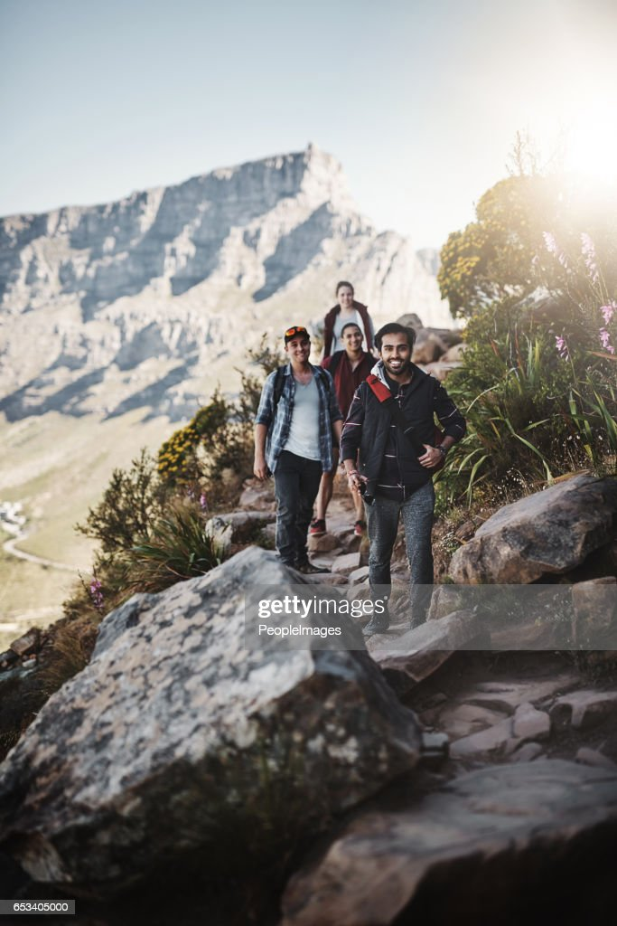 Taking the trail to the top : Stock Photo