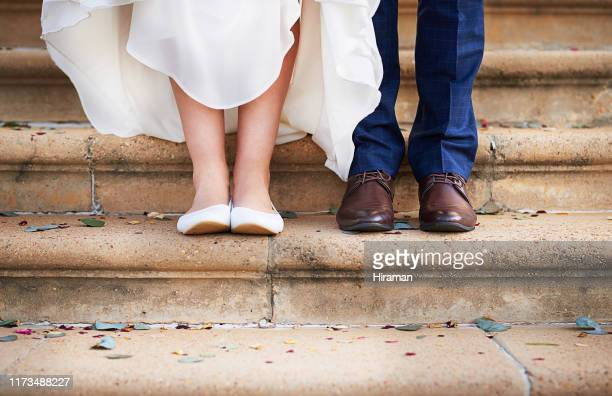 taking their first step into married life - wedding stock pictures, royalty-free photos & images