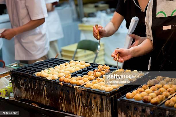 Takoyaki at food stall