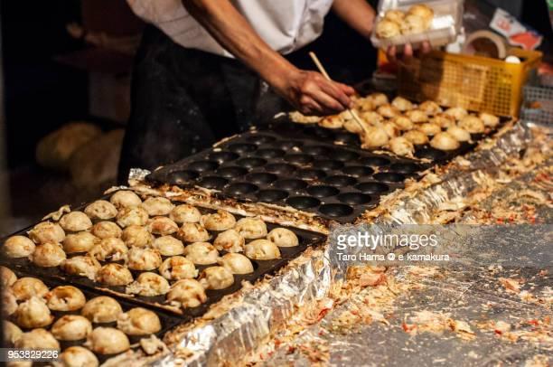 Takoyaki, Japanese food stands in Japan