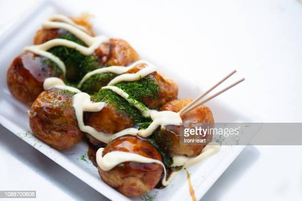 takoyaki originally from osaka. - takoyaki stock pictures, royalty-free photos & images
