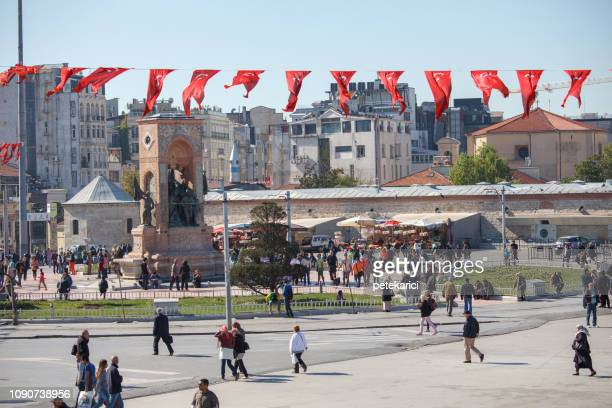 Taksim Square View with Statues