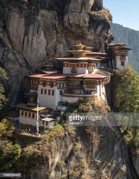 taktsang buddhist monastery, bhutan - paro stock pictures, royalty-free photos & images