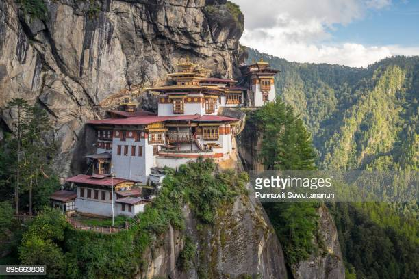 Taktsang monastery, landmark of Paro valley in Bhutan