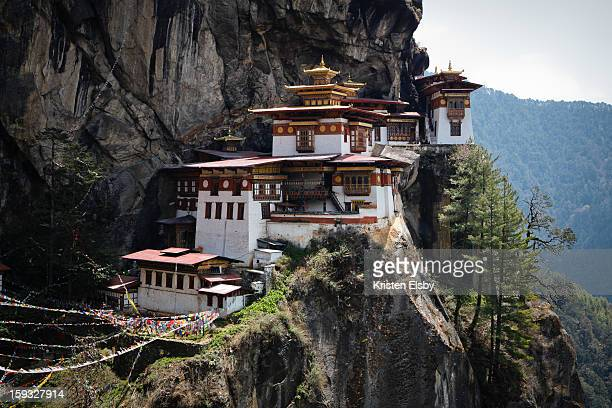 Taktsang Palphug Monastery, also known as Tiger's Nest, sits on a sheer cliff face 900m above Paro Valley, requiring a strenuous climb for several...