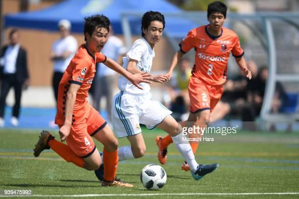Takuhiro Nakai of Real Madrid Cadete B in action during the U-15 Kirin Lemon Cup match between Real Madrid Cadete B and Omiya Ardija U-15 on March...