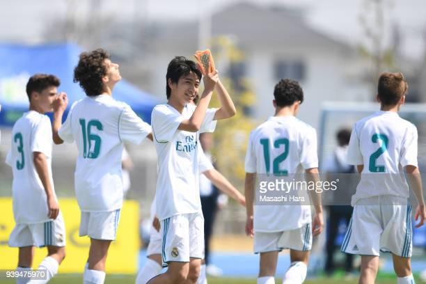 Takuhiro Nakai of Real Madrid Cadete B looks on after the U-15 Kirin Lemon Cup match between Real Madrid Cadete B and Omiya Ardija U-15 on March 29,...