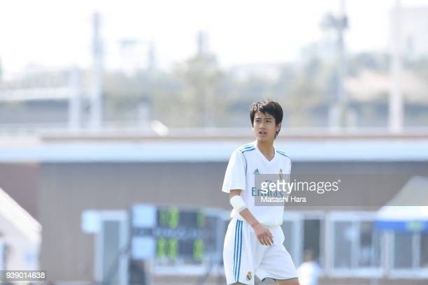 Takuhiro Nakai of Real Madrid Cadete B looks on during the U-15 Kirin Lemon Cup match between Real Madrid Cadete B and Mitsubishi Yowa Soccer Club...