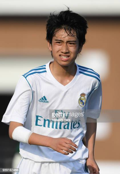 Takuhiro Nakai of Real Madrid Cadete B looks on during the U-15 Kirin Lemon Cup match between Real Madrid Cadete B and SC Sagamihara U-15 on March...