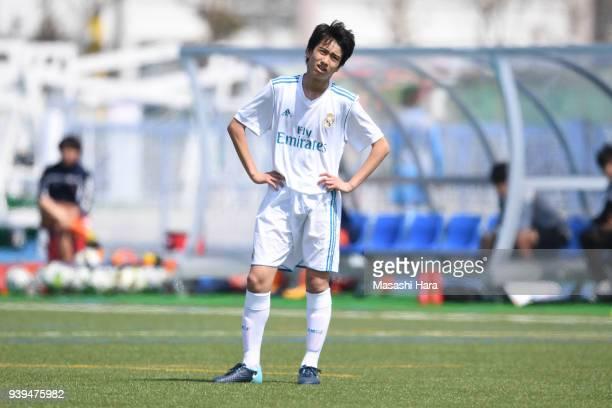 Takuhiro Nakai of Real Madrid Cadete B looks on during the U-15 Kirin Lemon Cup match between Real Madrid Cadete B and Omiya Ardija U-15 on March 29,...