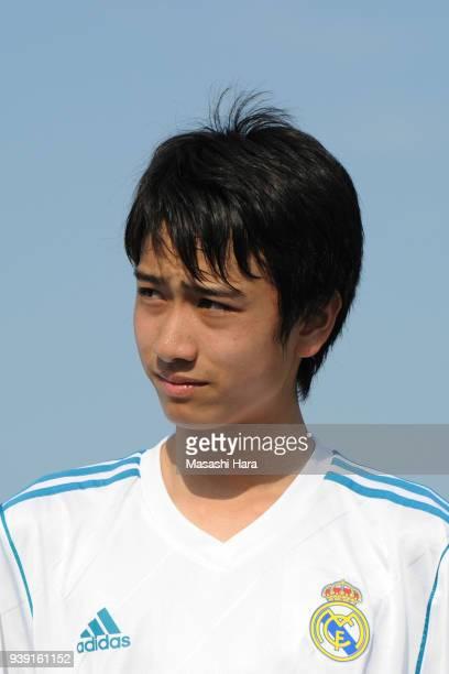 Takuhiro Nakai of Real Madrid Cadete B looks on prior to the U-15 Kirin Lemon Cup match between Real Madrid Cadete B and SC Sagamihara U-15 on March...