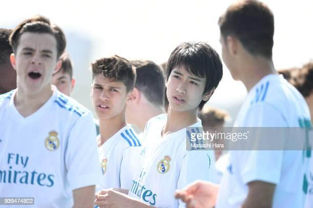 Takuhiro Nakai of Real Madrid Cadete B looks on prior to the U-15 Kirin Lemon Cup match between Real Madrid Cadete B and Omiya Ardija U-15 on March...