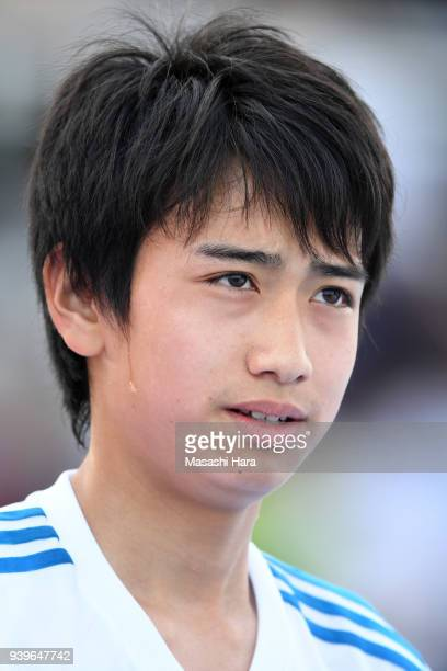 Takuhiro Nakai of Real Madrid Cadete B looks on prior to the U-15 Kirin Lemon Cup Final match between Real Madrid Cadete B and Shonan Bellmare U-15...