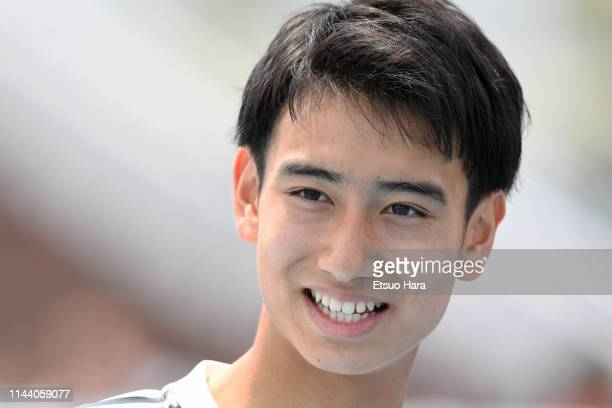 Takuhiro Nakai of Real Madrid smiles after the U16 Kirin Lemon Cup semi final between Real Madrid and JEF United Chiba at Yanagishima Sports Park on...