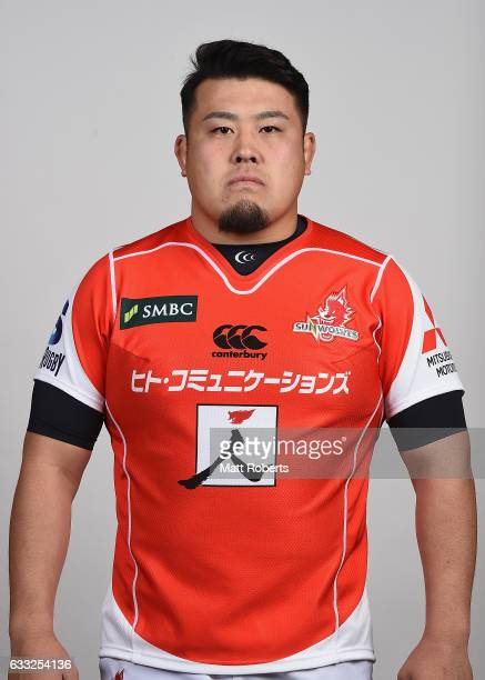 Takuma Asahara poses during the Sunwolves Super Rugby headshots session on February 1, 2017 in Tokyo, Japan.