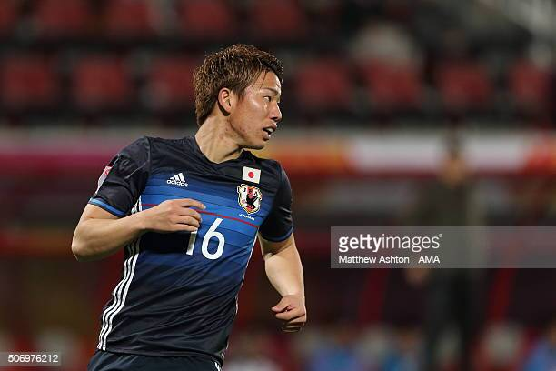 Takuma Asano of Japan during the AFC U23 Championship semi final match between Japan and Iraq at the Abdullah Bin Khalifa Stadium on January 26 2016...