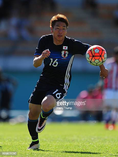 Takuma Asano of Japan during the Toulon Tournament match between Japan and Paraguay at Stade De Lattre on May 21 2016 in Aubagne France