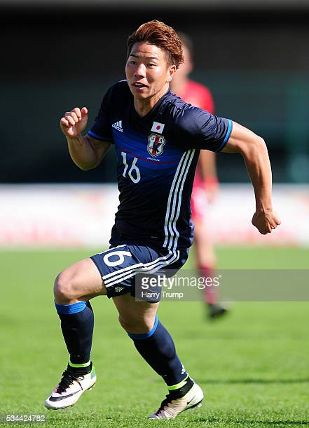 Takuma Asano of Japan during the Toulon Tournament match between Japan and Portugal at Stade De Lattre on May 23 2016 in Aubagne France
