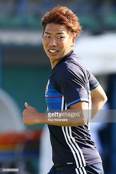 Takuma Asano of Japan looks on the Toulon Tournament between Japan and Portugal on May 23 2016 in Aubagne France