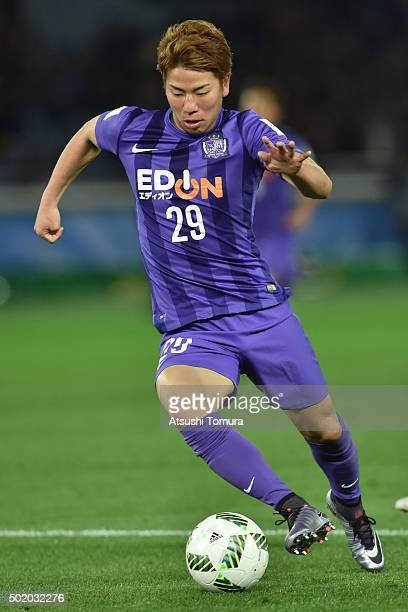 Takuma Asano of Sanfrecce Hiroshima in action during the 3rd place match between Sanfrecce Hiroshima and Guangzhou Evergrande FC at International...