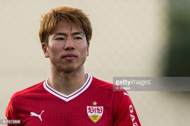 Takuma Asano of VFB Stuttgart during the friendly match between FC Twente and VFB Stuttgart at the La Manga Club Resort on January 06 2018 in La...