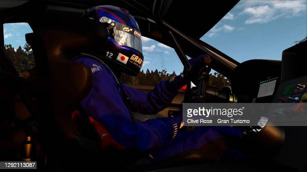 Takuma Miyazono of Japan and Subaru participates in race two held at the virtual Red Bull Ring, Austria during the FIA Manufacturer Series Gran...