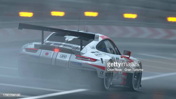 Takuma Miyazono of Japan during the Nations Cup race two of the FIA Gran Turismo World Tour 2020 Finals run at the virtual Tokyo Expressway circuit,...