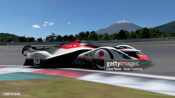 Takuma Miyazono of Japan in action during the FIA Gran Turismo Championship Asia & Oceania Nations Cup Regional Finals 2020 held at Fuji Speedway on...