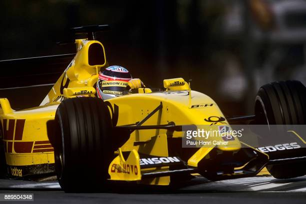 Takuma Sato JordanHonda EJ12 Grand Prix of San Marino Autodromo Enzo e Dino Ferrari Imola 14 April 2002 Takuma Sato in full attack mode during...