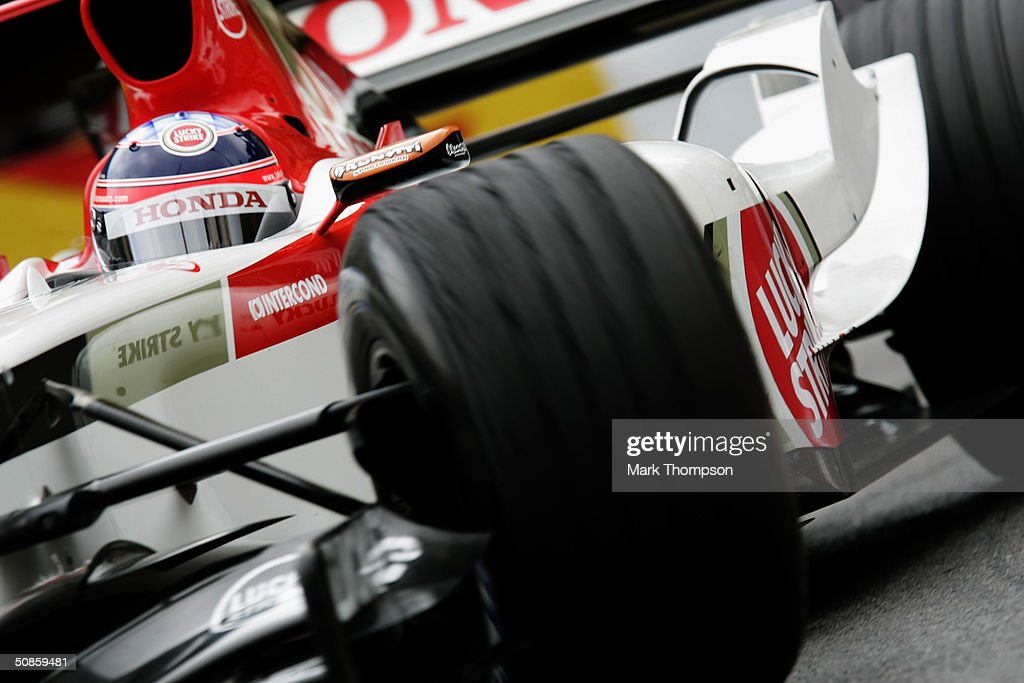 Takuma Sato of Japan and BAR in action during practice for the Monaco F1 Grand Prix on May 20, 2004, in Monte Carlo, Monaco.