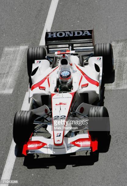 Takuma Sato of Japan and Super Aguri F1 during practice for the Monaco Formula One Grand Prix at the Monte Carlo Circuit on May 25 in Monte Carlo...