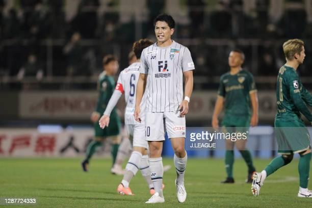 Takumi KAMIJIMA of Avispa Fukuoka looks on during the J.League Meiji Yasuda J2 match between Tokyo Verdy and Avispa Fukuoka at Ajinomoto Field...