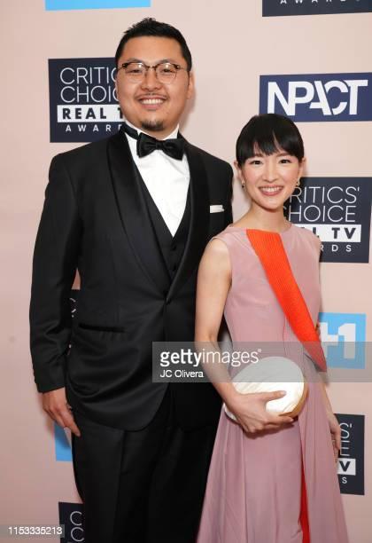 Takumi Kawahara and Marie Kondo attend the Critics' Choice Real TV Awards on June 02 2019 in Beverly Hills California