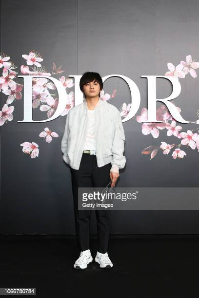 Takumi Kitamura attends the photocall at the Dior Pre Fall 2019 Men's Collection on November 30, 2018 in Tokyo, Japan.