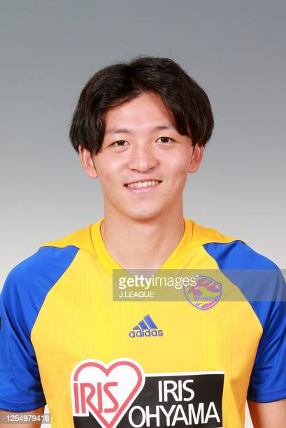 Takumi Mase poses for photographs during the Vegalta Sendai portrait session on July 1, 2020 in Japan.