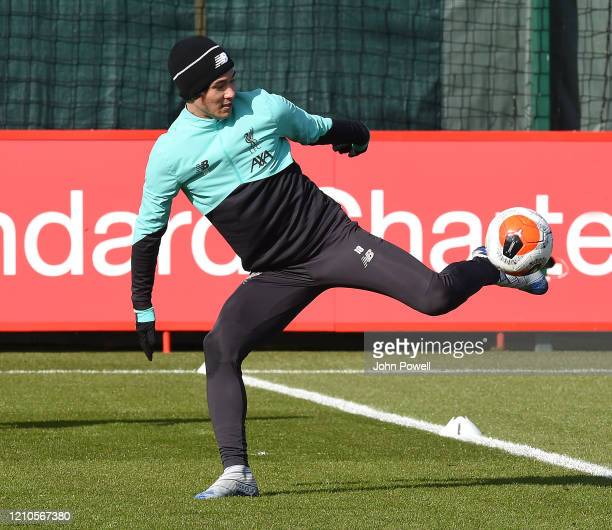 Takumi Minamino of Liverpool during a training session at Melwood Training Ground on March 05 2020 in Liverpool England