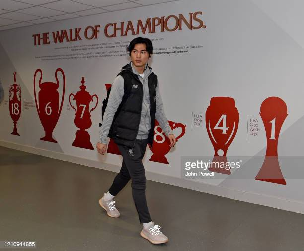 Takumi Minamino of Liverpool during the Premier League match between Liverpool FC and AFC Bournemouth at Anfield on March 07 2020 in Liverpool United...