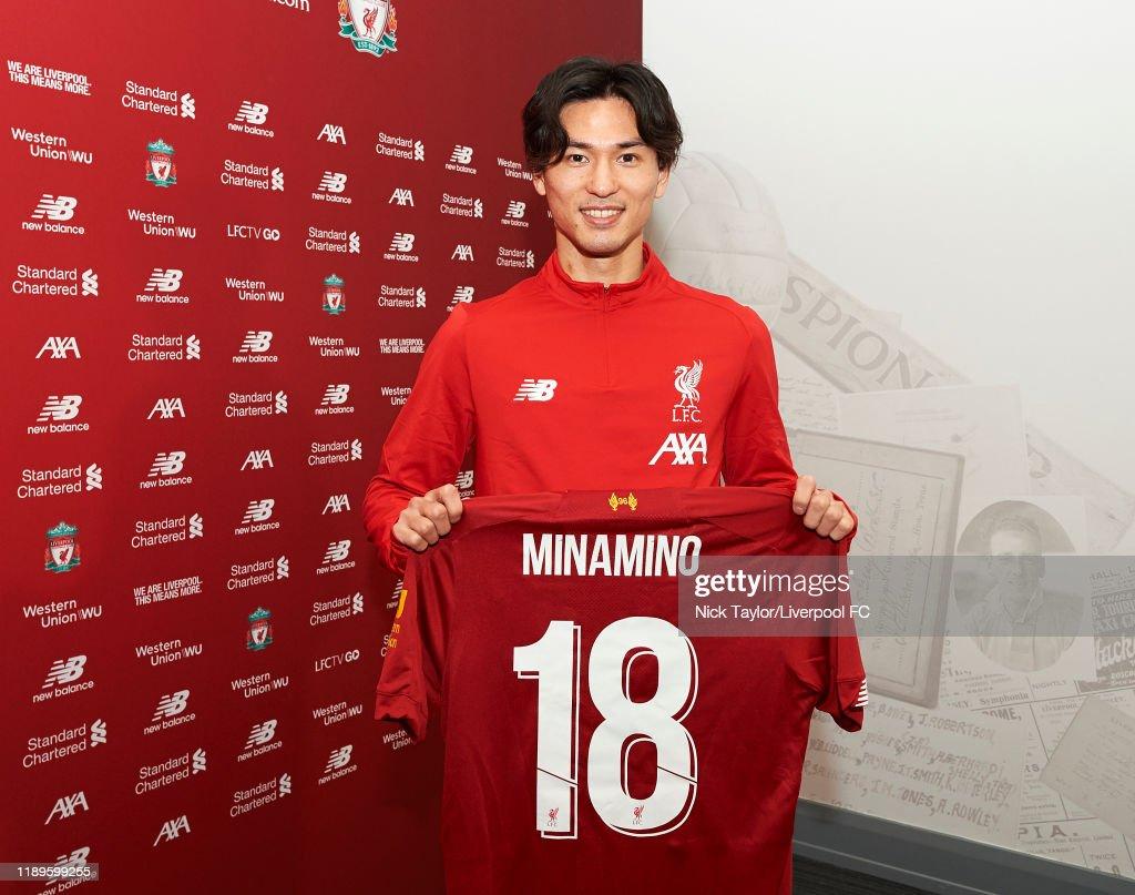Liverpool Announce Signing of Takumi Minamino Ahead of January Transfer Window : ニュース写真