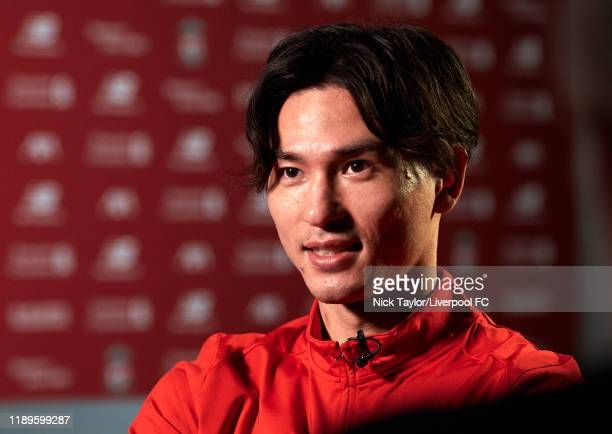 Takumi Minamino signs for Liverpool Football Club on December 18 2019 in Liverpool England