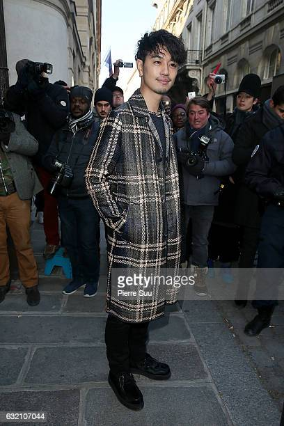 Takumi Saito attends the Louis Vuitton Menswear Fall/Winter 20172018 show as part of Paris Fashion Week on January 19 2017 in Paris France
